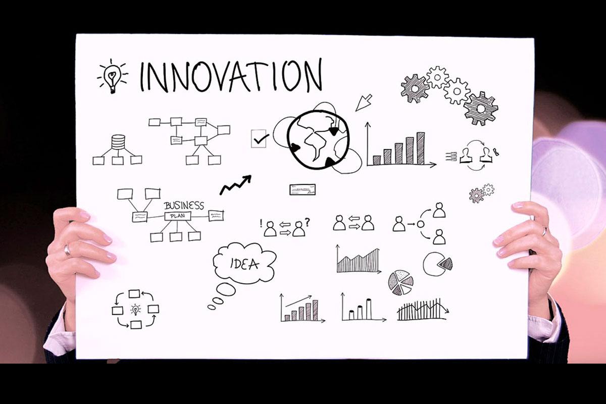 Una lavagna che rappresenta l'innovazione