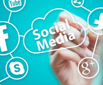 Copertina con loghi di vari social network